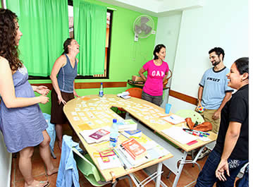 Group classes at Habla Ya Language Center in Boquete, Panama